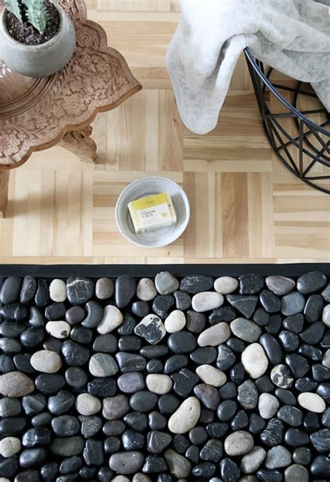 Pebble Doormat by Home Diy Projects Without Tools Use Glue Not A