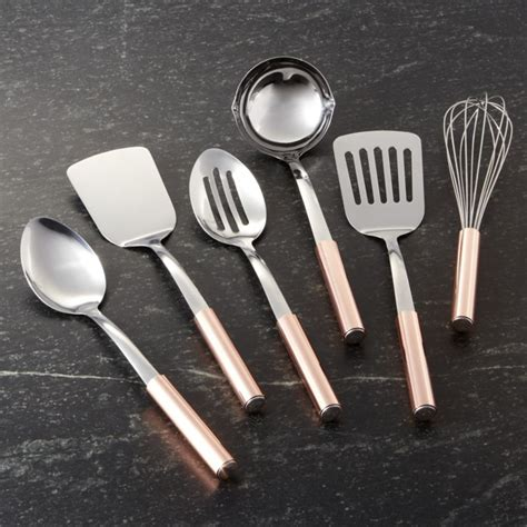 kitchen tv ideas utensils with copper handles crate and barrel