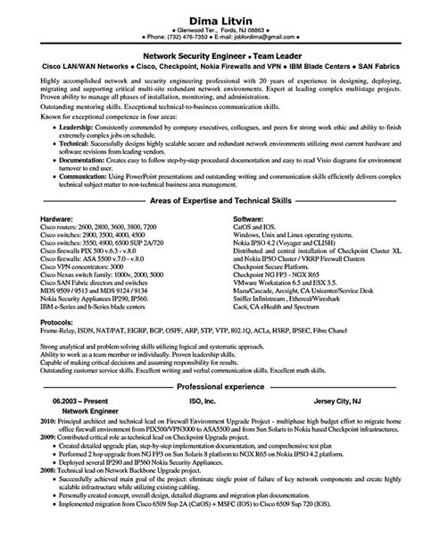 Resume Sles For Network Engineer by Network Engineer Resume Nowadays Becomes So Popular It Is