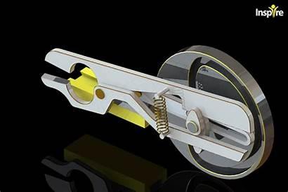Cam Scissors Mechanical Engineering Driven Cad 3d