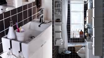 storage ideas for small bathrooms with no cabinets cuartos de baño pequeños ikea