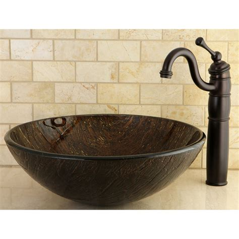 Bathroom Sinks Vessel Bowls by Bronze Tempered Glass Vessel Bathroom Sink Ebay