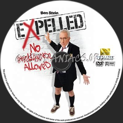 Expelled No Intelligence Allowed dvd label - DVD Covers