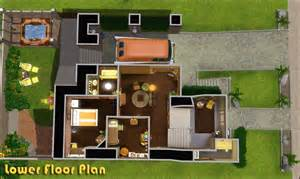 Surprisingly Simple Sims House Plans by My Sims 3 Retro Realty 70s Modern Family Home By