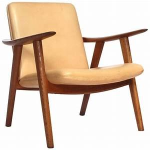 Oak, Reading, Chair, By, Hans, J, Wegner, For, Sale, At, 1stdibs