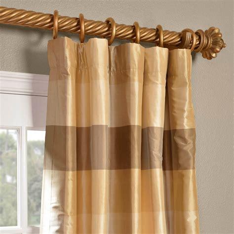 Silk Plaid Drapes - sheffield silk plaid curtains hpd