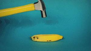 New trending GIF tagged art banana hammer via… | Trending Gifs