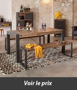 Table Bois Metal Avec Rallonge : quelle table style industriel avec rallonges choisir ~ Melissatoandfro.com Idées de Décoration