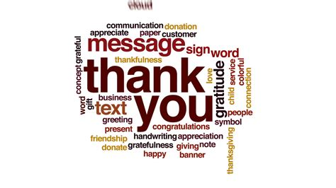 Thank You Wallpaper Animated - thank you animated word cloud text design animation