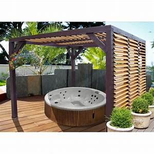 Abri De Jardin Avec Pergola : pergola en bois avec ventelles amovibles sur toiture 1 ~ Dailycaller-alerts.com Idées de Décoration