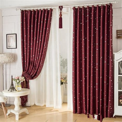 blackout curtains home pattern printed polyester flat
