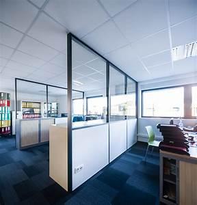 Cloison Acoustique Bureau : cloison amovible vitr e de bureau open space isolation ~ Premium-room.com Idées de Décoration