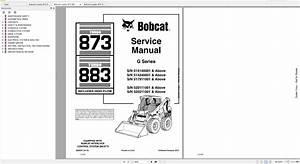 Bobcat Loader 873 883 Service Manuals