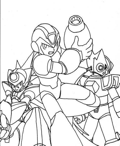 mega man coloring pages coloring page