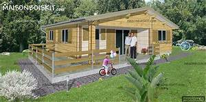Prix Maison En Bois En Kit : chalet bois en kit pas cher 3 chambres ~ Nature-et-papiers.com Idées de Décoration