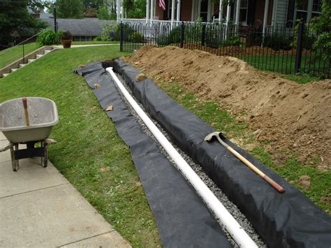 landscape drainage systems drainage construction a class paving and masonry