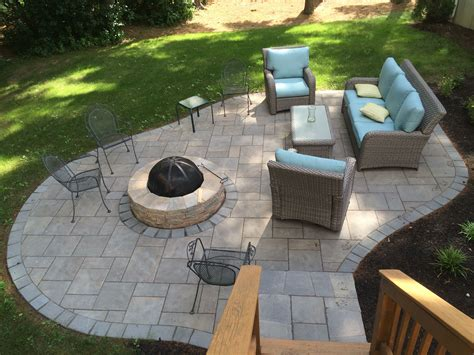 unilock pit patio out of unilock s beacon hill flagstone patios in