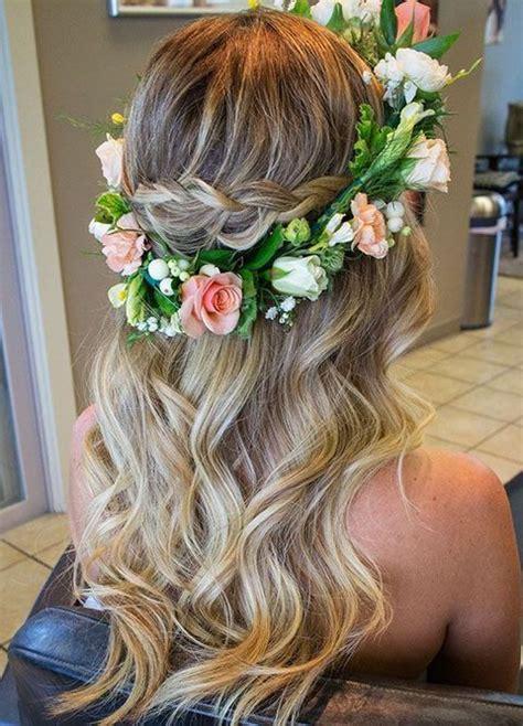 romantic spring wedding hairstyles  inspire