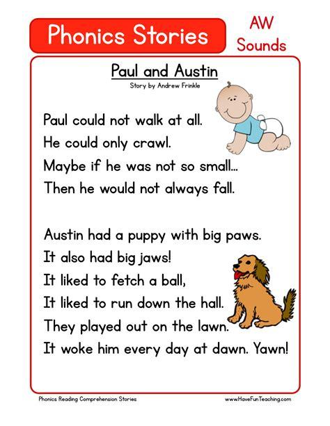 Printable Kindergarten Reading Stories Breadandhearth