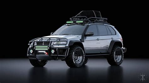 Bmw X5 E70 Off-road Rendering