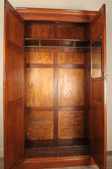 edwardian narrow oak hall coat cupboard antiques atlas