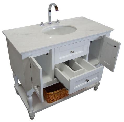 42 Inch White Bathroom Vanity With Top by Single Vanity Cabinet White Shaker Westwood Single 42