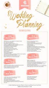 wedding preparation 6 month wedding planning timeline aisle