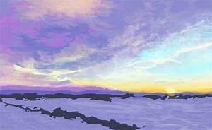 Winter Sunset A Landscape Speedpaint Drawing By Betty