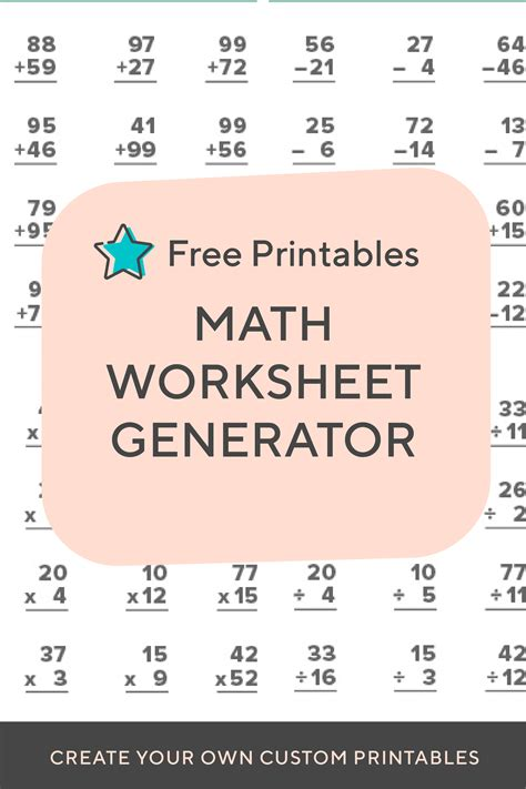 need to create a timed test or just want to print out some extra practice for your child or