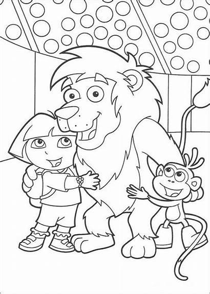 Coloring Friends Pages Dora