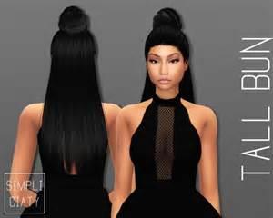 Sims 4 CC Hair Bun
