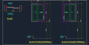 UPVC Sliding Window Cad Detail Plan n Design