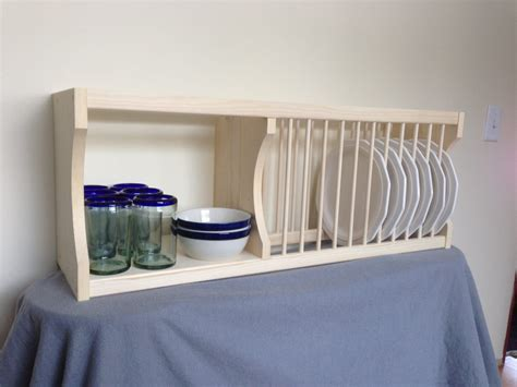 cabinet plate rack  shelf  nicoletwoodproducts  etsy