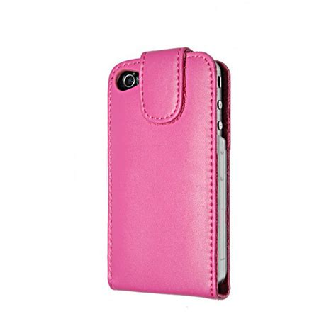 housse iphone 4 4s cuir flip open htcn