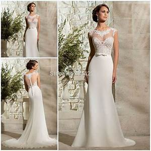 rude style lace appliqued long short cap sleeves vintage With vintage sheath wedding dresses