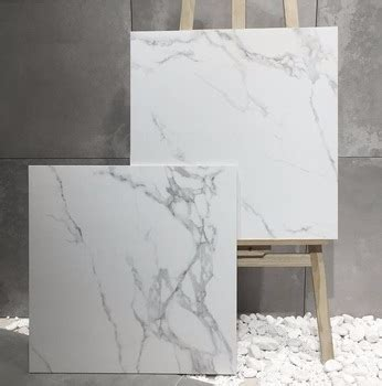 Carrara Design Ceramic Polished And Matt Snow White Marble