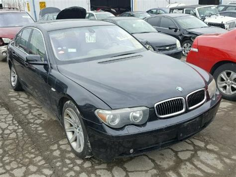 745i Bmw For Sale by 2003 Bmw 745i For Sale At Copart Chicago Heights Il Lot