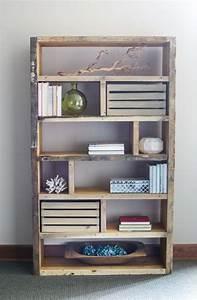 diy rustic bookshelf knockoffdecor