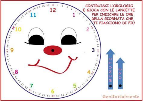 imparare a leggere l orologio schede da stare genitorialmente