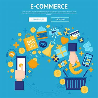 Commerce Vector Background Webpage Shopping Vecteezy Graphics
