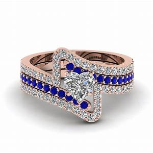 view our blue sapphire trio wedding ring sets With diamond and sapphire wedding ring sets