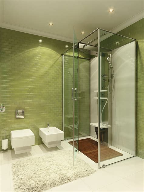 green tile bathroom interior design ideas