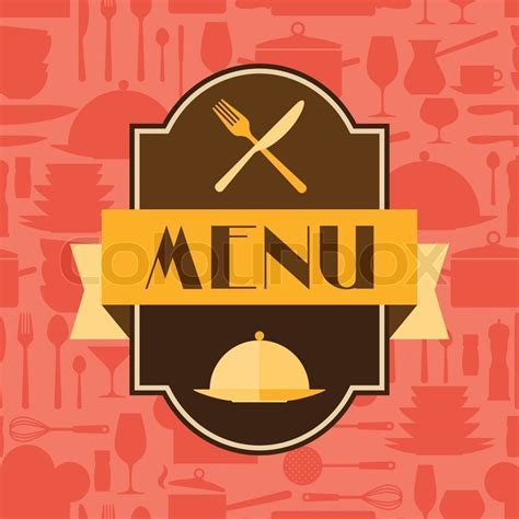 Restaurant menu background in flat     Stock Vector