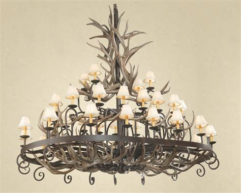 how to clean an antler chandelier