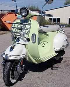 Motorroller Vespa 50ccm : retro roller razory r22 ves mofa mokick 50ccm lindgruen ~ Jslefanu.com Haus und Dekorationen