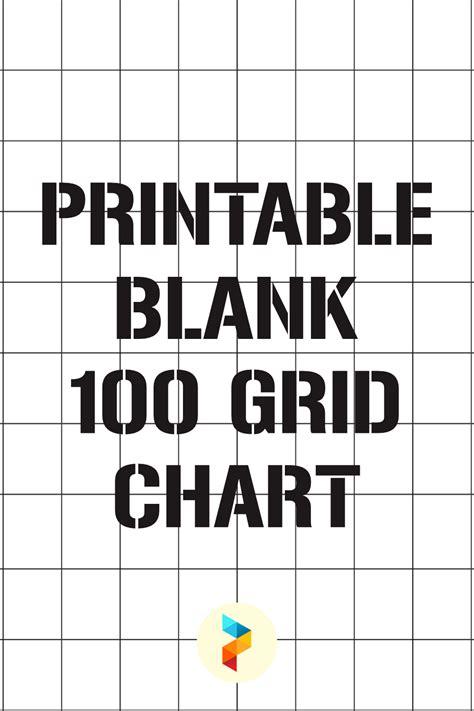 printable blank  grid chart printableecom