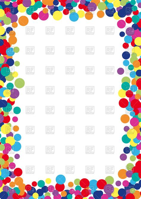 colorful picture frames colorful abstract spot frame vector image of borders and
