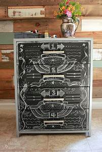 faux zinc and chalkboard file cabinet pretty handy girl With kitchen cabinets lowes with how to get moving stickers on snapchat