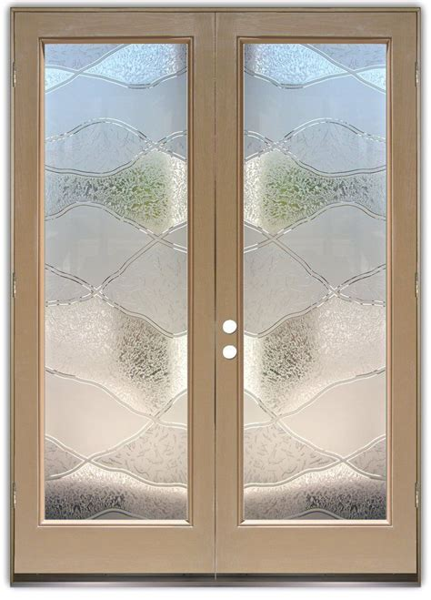 abstract hills  double entry doors hand crafted