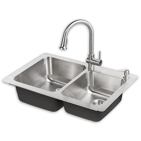 kitchen sink faucets lowes montvale 33 x 22 kitchen sink with faucet standard